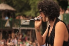Vancouver's own Erica Dee rocks The Village stage at Shambhala. Photo by Syd Woodward.